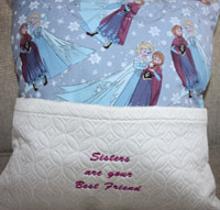 Reading Elsa pocket pillow-Phillies pillow, pillow embroidered pillow,pocket pillow, reading pillows