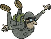 Sky Diver-Sky diver, sky diving, sports, machine embroidery designs