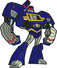 Soundwave-Soundwave, transformer, machine embroidery, childrens embroidery