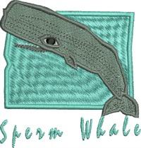Sperm Whale-whale sperm whale machine embroidery sea life whales embroidery marine marine life ocean life fish