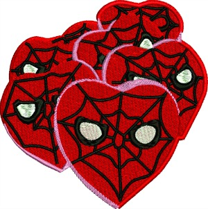 Valentine Spiderman Hearts