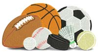 Sports equipment-Sports, equipment, sports equipment, machine embroidery,football,basketball, tennis, golf,soccer,baseball, tennis, hockey