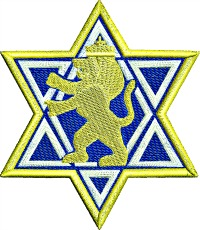 Star of David Lion of Judah-Star of David Lion of Judah Jewish embroidery machine embroidery religious religion Judaism stitchedinfaith.com