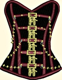 Steam Punk Corset-Steam Punk, corset, machine embroidery, embroidery,