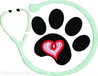 Animal Doctor-Animal Doctor embroidery, veterarian embroidery, machine embroidery, dog embroidery, paws embroidery, stitchedinfaith.com, embroidery, pet embroidery