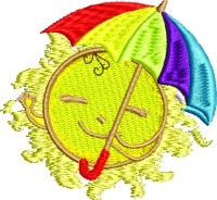 Sun Umbrella-Beach Sun Umbrella Beach umbrella machine embroidery embroidery stitchedinfaith.com summer embroidery summer designs beach towels embroidery