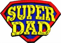 Super Dad-Dad embroidery, Fathers day embroidery, machine embroidery, Super Dad embroidery, Daddy embroidery, stitchedinfaith.com
