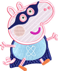 Super Peppa Pig-Peppa Pig, Pig, machine embroidery, embroidery designs