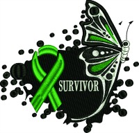 Survivor Butterfly-Survivor machine embroidery design organ transplant survivor liver transplant embroidery embroidery survivor butterfly stitchedinfaith.com