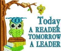Todays Reader-School reading reader kids reading reading school machine embroidery teacher reading stitchedinfaith.com