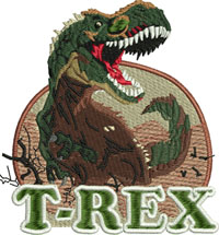 T Rex Dinosaur-T Rex embroidery, machine embroidery, dinosaur embroidery, animal embroidery, prehistoric embroidery