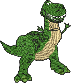 T Rex toy-T Rex, toy, movie, story, dinosaur, dino. machine embroidery