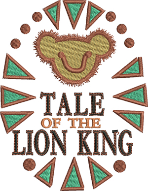 Tale of the lion king-machine embroidery, lion, king, childrens movies, movies