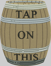 Tap on this-Tap,beer,beer barrel, barrel,alcohol, booze,drinking, machine embroidery, embroidery