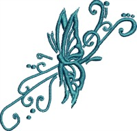 Tattoo Butterfly-Butterfly embroidery, tattoo, machine embroidery, butterfly