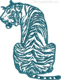 Tattoo Tiger-Tattoo Tiger, tiger embroidery, machine embroidery, tattoo, animal embroidery