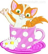 Tea Time Kitty