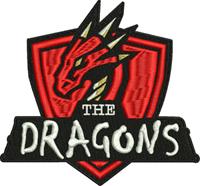 The Dragons-Dragons, machine embroidery, dragon,animal,mythology