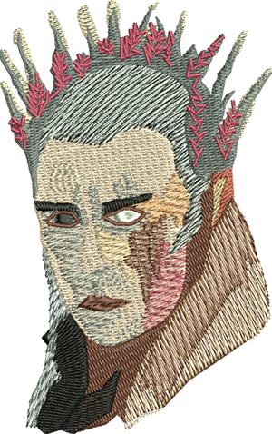 Thranbull-Thranbull, lotr, machine embroidery, embroidery