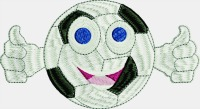 Thumbs up for soccer-Soccer, machine embroidery, embroidery socce,r sports, soccer fun, stitchedinfaith.com