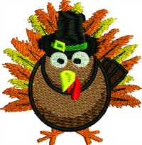 Tom Turkey-Tom Turkey turkey thanksgiving holidays machine embroidery stitchedinfaith.com