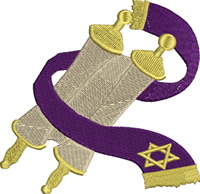 Torah-Torah, Judaism embroidery, religious, embroider, machine embroidery,