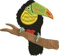 Toucan Bird-Toucan birds machine embroidery
