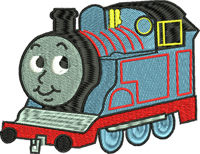 Train Thomas-Train, Thomas the train, Thomas embroidery, machine embroidery, embroidery designs