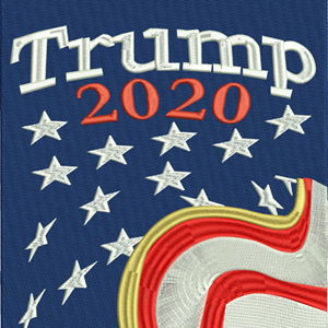 Trump2020-Trump, 2020,President,machine embroidery,election, politics,Republican