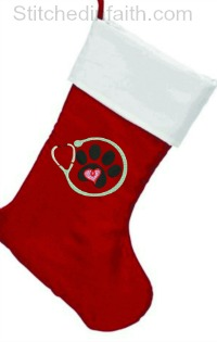 Personalized Veterinarian Christmas Stocking