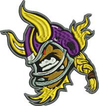 Minnesota Vikings-Minnesota Vikings, machine embroidery, sports embroidery, Vikings embroidery, football embroidery