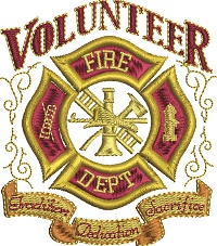 Volunteer Fire Department-Volunteer Fire Department Fire Department Volunteer machine embroidery