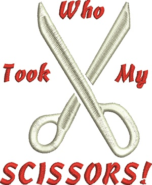 Sewing, who took my scissors