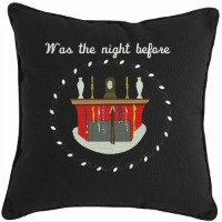 Was the night before Christmas-Christmas pillow Christmas pillows holiday pillows night before Christmas pillow embroidered pillow