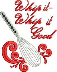 Whip it-Kitchen, Kitchen embroidery, Wisk, appliances, Kitchen tools, machine embroidery