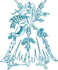 Winter Frost Queen-Winter machine embroidery Frost embroidery Winter frost queen embroidery queen embroidery machine embroidery Winter embroidery stitchedinfaith.com