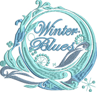 Winter Blues-Winter blues, machine embroidery, winter embroidery, blues embroidery, seasons embroidery, embroidery