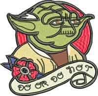 Yoda-Yoda, star wars, machine embroidery, characters, movies