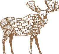 Zentangle Moose-Zentangle Moose, machine embroidery, embroidery designs, moose embroidery, moose