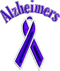 Alzheimer Ribbon-Alzheimer Ribbon machine embroidery awareness ribbon