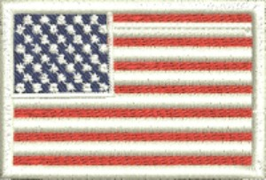 American Flag-American flag machine embroidery flag USA flag patch flag patch