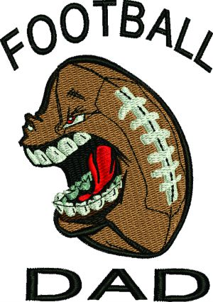 Football Dad Machine Embroidery Design