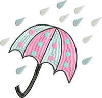 Baby shower-Baby, shower, umbrella, raining, babies,