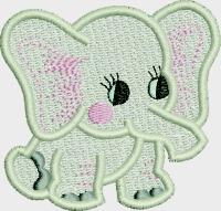 Baby elephant-ELEPHANT BABY ELEPHANT MACHINE EMBROIDERY BABY