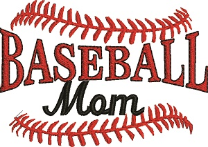 Baseball Mom Machine embroidery design