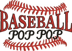 Baseball Pop Pop-Baseball baseball pop pop machine embroidery