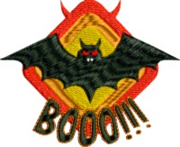 Bat BOOO-Halloween bats boo machine embroidery holiday stitchedinfaith.com