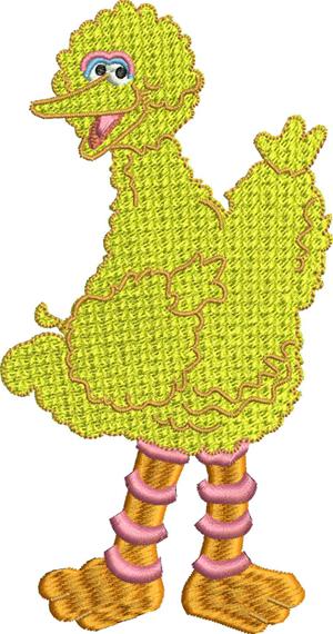 Big Bird-Big bird, childrens embroidery, machine embroidery, bird, embroidery