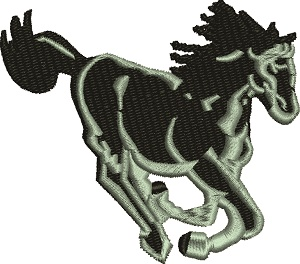 Black Stallion horse-machine embroidery, stallion, stallion horse,black horse,black stallion