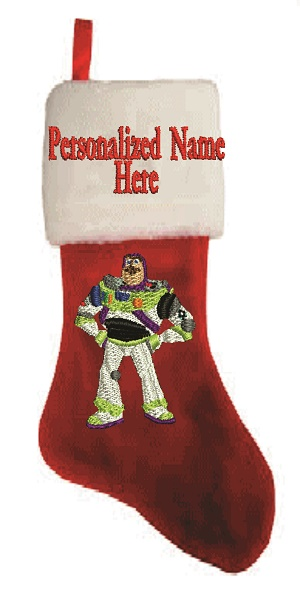 Buzz Light year  Personalize Plush Christmas Stocking-PERSONALIZED CHRISTMAS STOCKING PLUSH STOCKING BUZZ LIGHTYEAR EMBROIDERED STOCKING